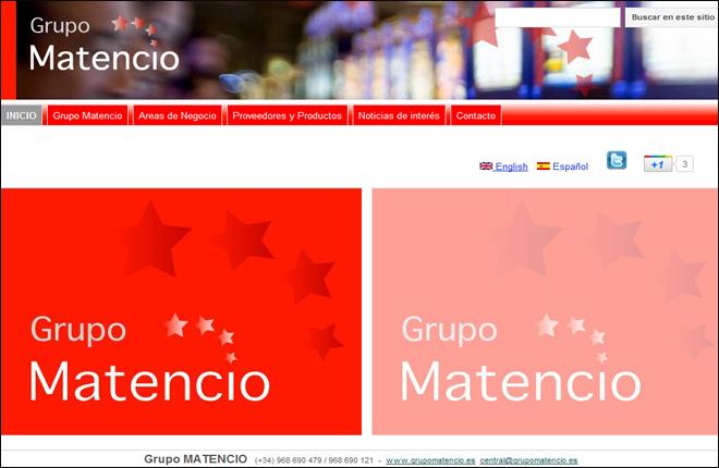 El Grupo Matencio renueva su web
