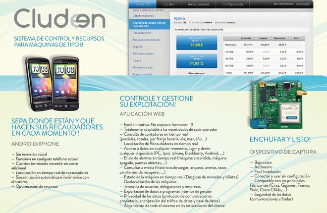 Cludeen crea un sistema telemático de control y geolocalización de máquinas recreativas