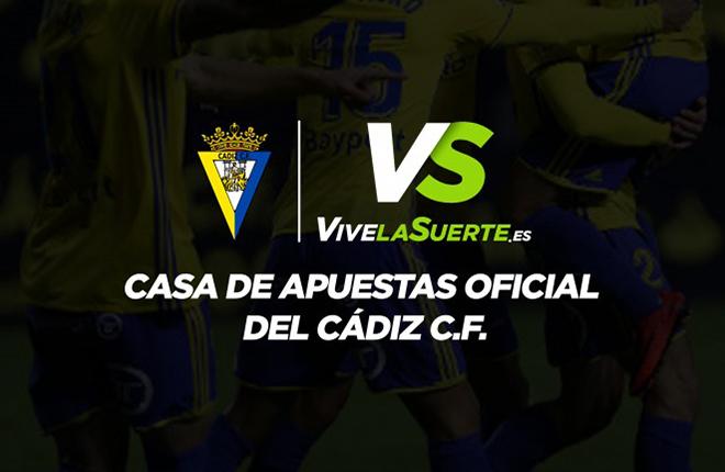 VivelaSuerte se convierte en la casa oficial de apuestas del Cádiz CF