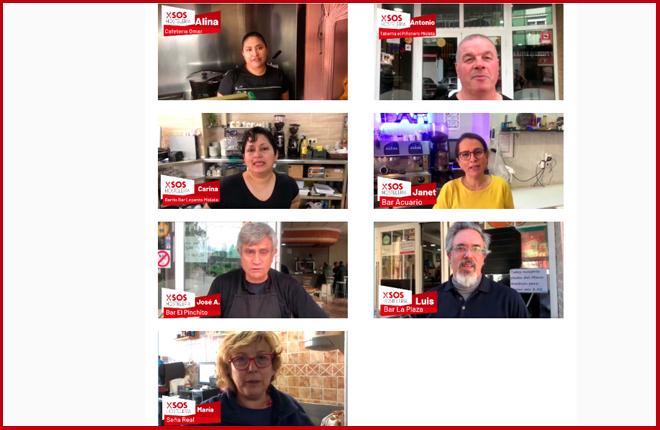 Miembros de SOS Hostelería piden a Ximo Puig que no les cierre el bar