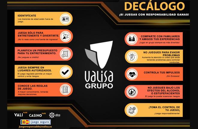 El Grupo Valisa presenta su propio decálogo de juego responsable