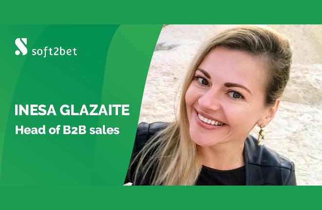 Soft2Bet nombra a Inesa Glazaite nueva directora de ventas B2B