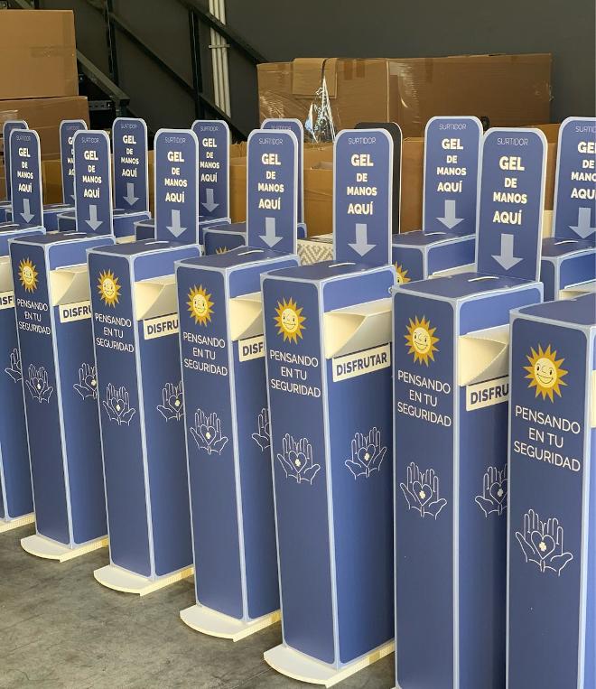 MGR fabrica y personaliza dispensadores de gel para los salones de Merkur Dosniha