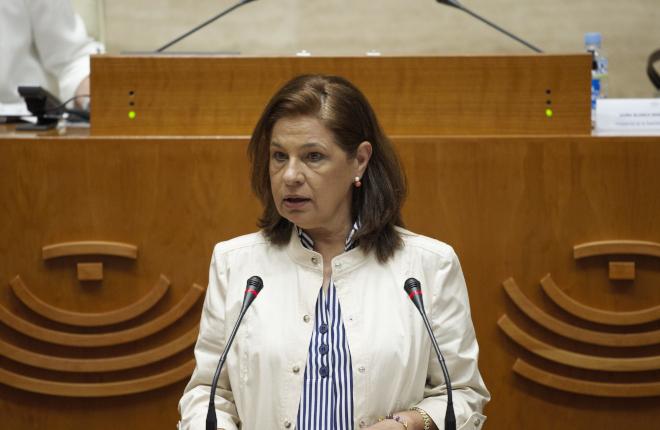 La consejera de Hacienda de Extremadura solicita la convalidación del Decreto-Ley que incluye la bonificación al 50% de la tasa de las máquinas de azar en el tercer trimestre del año