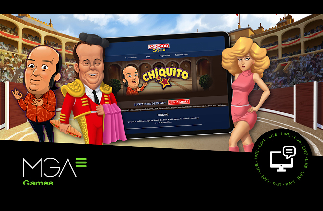 Monopoly Casino lanza los contenidos de slots online de MGA Games