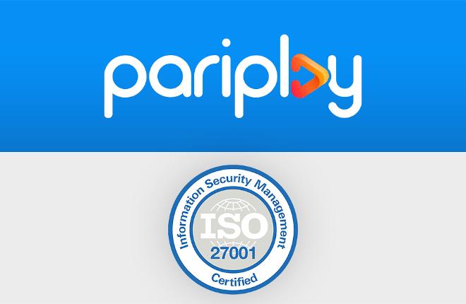 Pariplay recibe la certificación ISO/IEC 27001