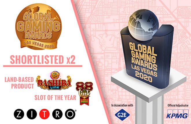 Zitro recibe dos nominaciones para los Global Gaming Awards Las Vegas 2020