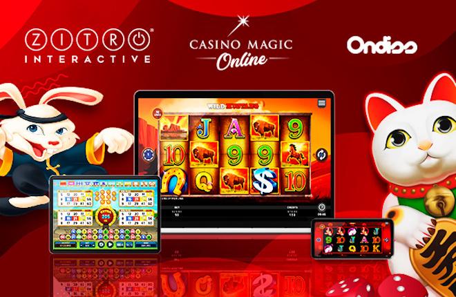 Alianza estratégica entre Zitro, Casino Magic Online y Ondiss