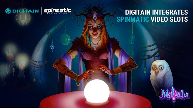 Digitain integra las videoslots de Spinmatic