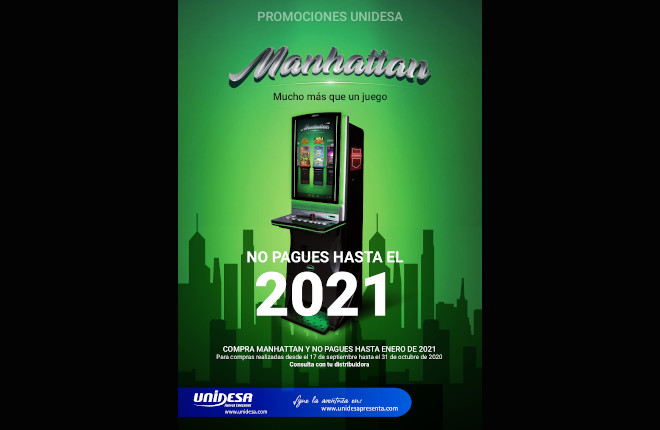 Manhattan de Unidesa, compra ahora y paga en 2021