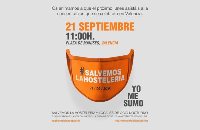 SOSHostelería participará en la concentración de hoy en Valencia