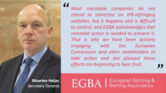 El Memorando de EGBA consigue reducir en un 20% la publicidad de marcas de juegos de azar en webs que infringen la propiedad intelectual