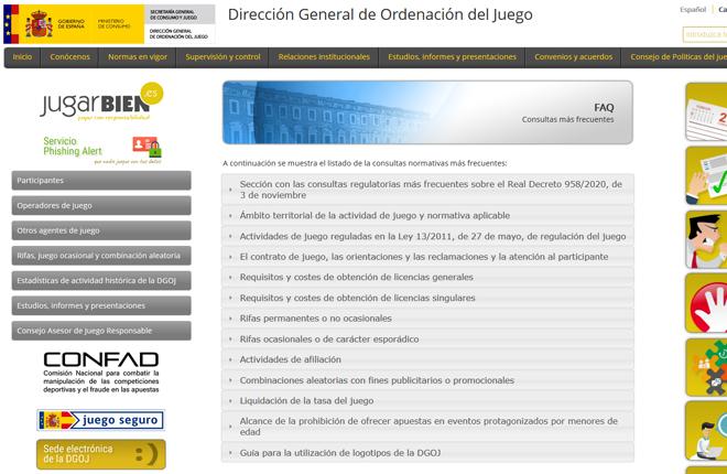La DGOJ incorpora en su web un módulo sobre las consultas regulatorias más frecuentes relacionadas con el Real Decreto de publicidad