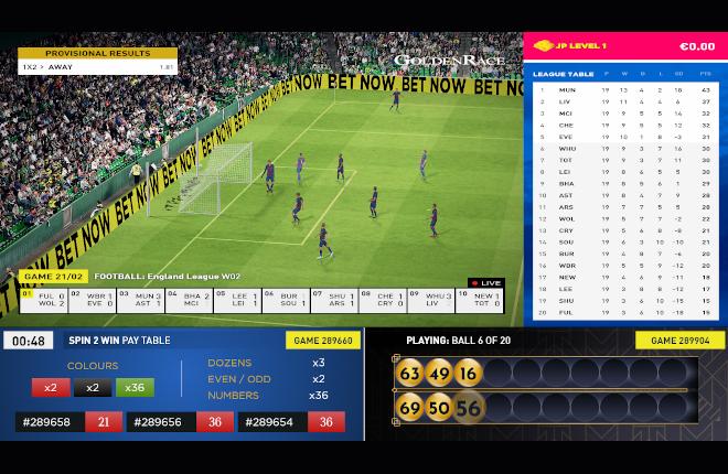 La nueva solución de software de apuestas de Golden Race para el canal retail incluye una opción de juego múltiple