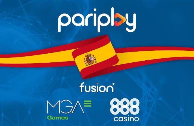 Pariplay entra en España de la mano de 888casino y MGA Games