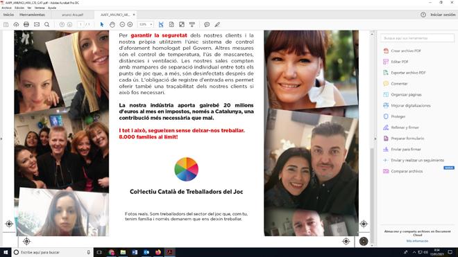 Los trabajadores del juego privado quieren que Cataluña reabra las salas de juego como se ha hecho en Euskadi