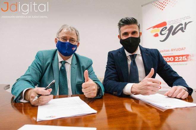 Jdigital y Fejar firman un acuerdo de colaboración en materia de juego seguro y responsable