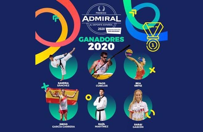 Sandra Sánchez, Paco Cubelos, Bea Ortiz, Diego García, Sarai Gascón y Raúl Martínez reciben sus Premios Admiral