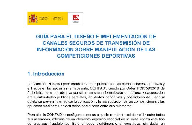 La Comisión Nacional para combatir la manipulación de las competiciones deportivas y el fraude en las apuestas celebra su primer pleno del año