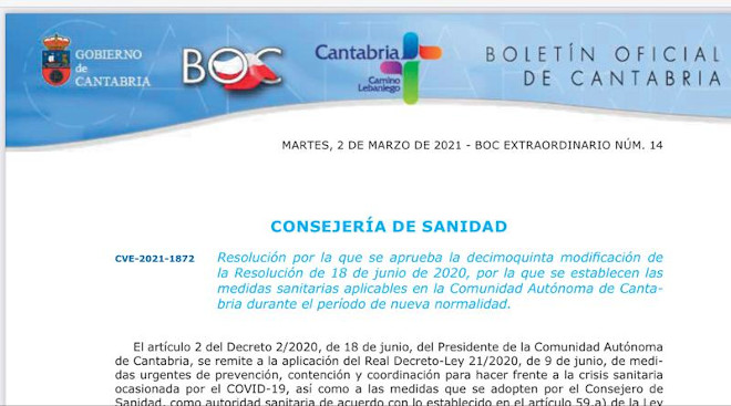 Reapertura de los locales de juego de Cantabria sin superar 1/3 del aforo autorizado