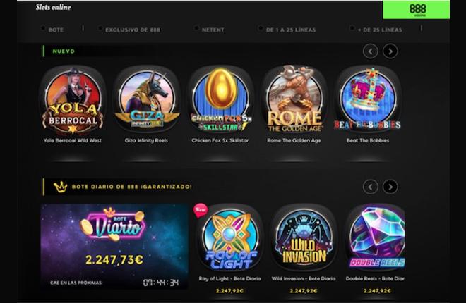 En febrero las máquinas de azar de 888casino repartieron 100.000 euros en premios