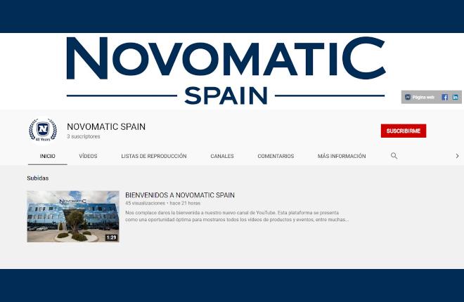 Novomatic Spain presenta su nuevo canal de Youtube